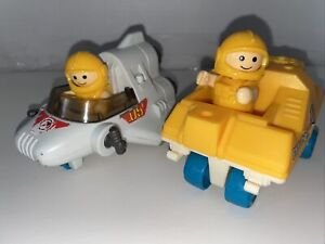 1984 PlayWorld Playskool Playmates Space Station Figures & Vehicles Lot