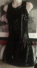 ❤️  Lipsy London Beautiful ❤️ Black Sequin  Dress Vintage Style Size 10 ❤️