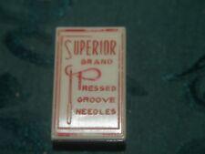 Superior Brand Pressed Groove Needles -World's Finest Chrome