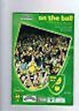 Norwich v Stockport County Programme 21st(21ème) Avr 2002