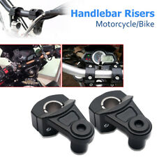 2Pcs 7/8'' 22mm Motorcycle Handle Bar Riser Fat Bars Mount Clamp Kit Universal