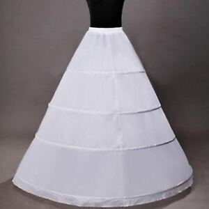 RULTA Reifrock Neu 4 Ringe Weiß Brautkleid Unterrock Petticoat Brautkleid DE C1