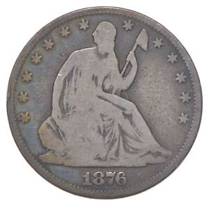 50c - Better - 1876 - Seated Liberty Half Dollar *364