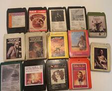 Job lot 8 TRACK CARTRIDGE TAPES - 1970's music x14 Vintage Cartridges