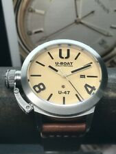 U-BOAT U-47 Special Edition STAINLESS Steel Swiss Automatic Movement 47mm Cream