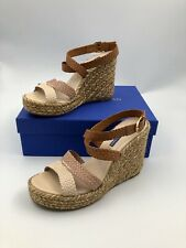 "Stuart Weitzman Elsie Espadrille Wedge Sandals 4.25"" Platform Orig.$425 New 10"