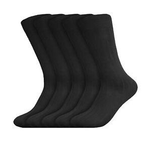 Beverly Hills Polo Club Mens Classic Ribbed Black Business Dress Socks