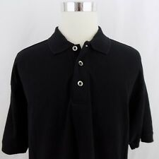 Oakley Men's Size Large Solid Black Short Sleeve Casual Cotton Polo Shirt