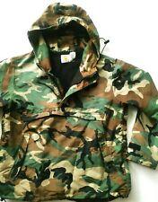 *HOT Men's CARHARTT @ HOODED SWEATER FLEECE CAMOUFLAGE GREEN RAIN COAT JACKET L