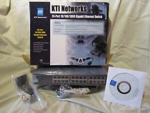 KTI Networks KGS-124-B 24x shielded 10/100/1000 Mbps  RJ-45 TP ports - Industrie