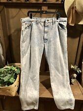0112:Wrangler Men's Vintage Jeans Light Blue Glacier Wash 42X30 Tag Made in Usa!