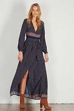 Rayon Long Wrap Dresses
