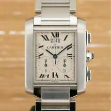 Cartier Tank Francaise Chronoflex - Boxed with Papers 2004 Serviced 2019 (PA2)