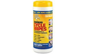 White Lightning Bamboo Bike Cleaning/Degreasing Wipes - Canister of 25