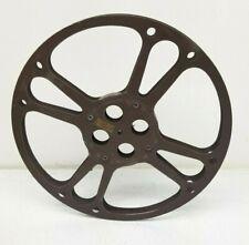 """Goldberg 16mm Movie Take Up Reel 1600' 14"""" Metal w/ Footage Markings"""