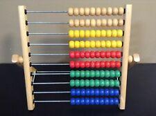 Ikea Mula Abacus Wooden Math Counting Wood Frame Beads Mathematics