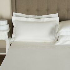 $1405tax FRETTE DOPPIO DOUBLE AJOUR QUEEN IVORY DUVET COVER 3p SET 2 SHAMS ITALY
