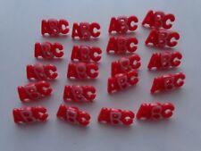 40x 17 mm Botones de Coser Rojo ABC