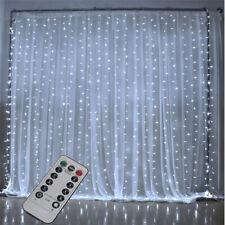 3M*3M 300 LED Curtain Fairy String Lights Garden Indoor Window Display + Remote