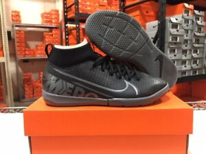 Nike Junior Superfly 7 Academy IC Soccer Shoes (Black/Cool Grey) Sz: 1-6y NEW!