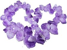 Gradual Freeform Natural Amethyst Faceted Nugget Gemstone Jewelry Beads