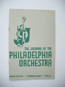 1938 PHILADELPHIA ORCHESTRA MUSIC PROGRAM HARL MCDONALD 1ST PERFORMANCE SYMPH #4
