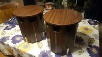 Vintage Omni Octagonal Table Speaker Directional Air Suspension Pair NICE