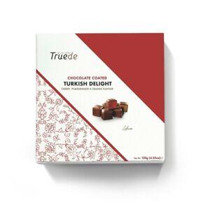 120g Box Chocolate Coated Turkish Delights - Cherry, Pomegranate, Orange Xmas