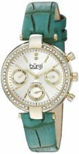 Burgi Quartz (Automatic) Silver Strap Wristwatches