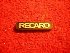RECARO SALEEN FORD MUSTANG CORVETTE RACING SEAT DECKLID DASH CONSOLE EMBLEM NEW