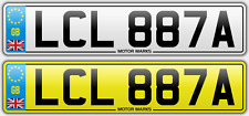 PRIVATE NUMBER PLATE -LCL 887A - LCL LC LL COBRA DAX AC PILGRIM SCOOTER VESPA