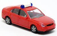 Rietze - Ford Mondeo Limousine Feuerwehr neutral ELW KdoW rot - 1:87 H0