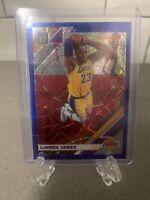 2019-20 Donruss Optic # 60 Lebron James Blue Velocity Prizm Lakers MVP INVEST