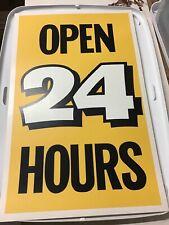 "Vintage White Castle Restaurant 14""x22"" Advertising Poster Open 24 Hours"