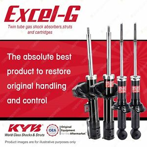 Front + Rear KYB EXCEL-G Shock Absorbers for MITSUBISHI Lancer CJ I4 FWD All