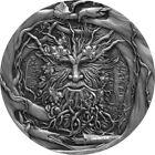 2021 2 Oz Silver $2 Niue FOREST SPIRIT Antique Finish Coin.