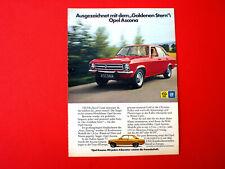 1972 orig. Werbung aus Zeitschrift  Auto  OPEL ASCONA