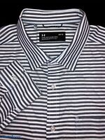 Under Armour Fitted Oxford Striped Shirt Size Large