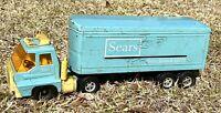 Vintage Sears Tractor Trailer Semi-Truck in Light Aqua Blue made by ERTL