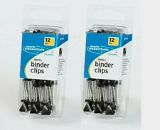 2 Acco Small Binder Clips 12 Each Durable Metal Arms Hold Large Quantity 71747
