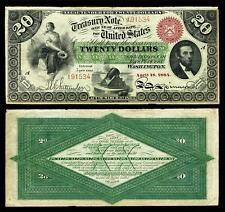 NICE CRISP UNC. 1864 U.S. $20.00 GREENBACK BANK COPY NOTE! READ DESCRIPTION