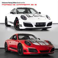 Se adapta a Porsche 911 Bonnet /& Techo Chequer a Cuadros Raya Gráfico DECAL set 997