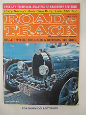 Road and Track Magazine    April 1963   Triumph Spitfire 4 Road Test