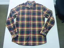 085 MENS NWOT BILLABONG NAVY / BLACK / GOLD CHECK L/S SHIRT SZE MEDM $90 RRP.