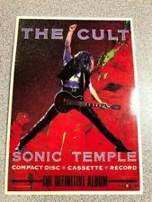 The Cult - Sonic Temple Vintage Postcard Printed in E.E.C. European mini poster