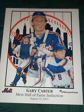 "Gary Carter NY Mets 2001 Hall of Fame Poster Print 11"" x 14"" Shea Stadium"