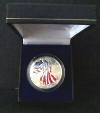 US Coin 1999 P Colorized American Eagle $1 Dollar 99.9% Silver High Grade Box