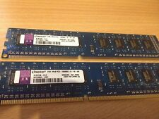 4GB (2x2GB) Kingston 1Rx8 PC3 10600U 1333mhz DDR3 RAM Desktop Memory Kit PC Pair