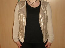 Helene Fischer Jacke Tchibo Größe 38 beige mit goldenen Pailetten
