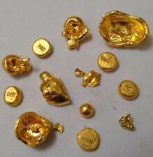 24k 1 gram 999 pure gold round button / shot 10k 14k 18k 22k jewelry chain scrap